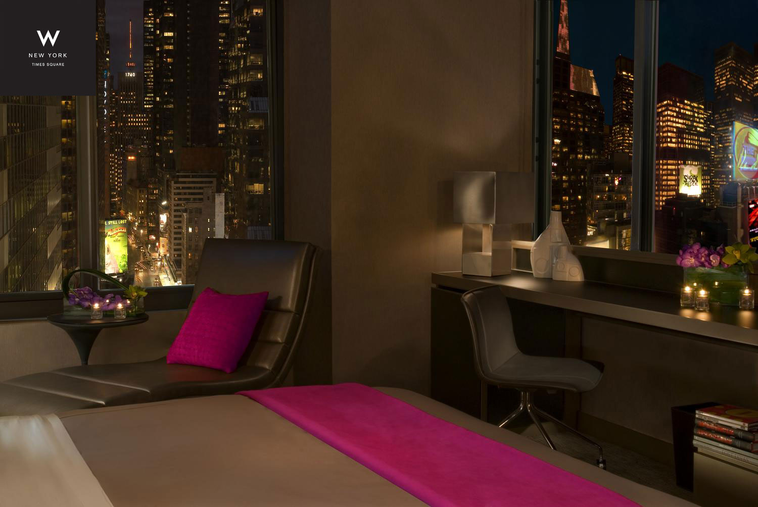 W hotels worldwide unveils renovation of iconic w new york for W living room times square