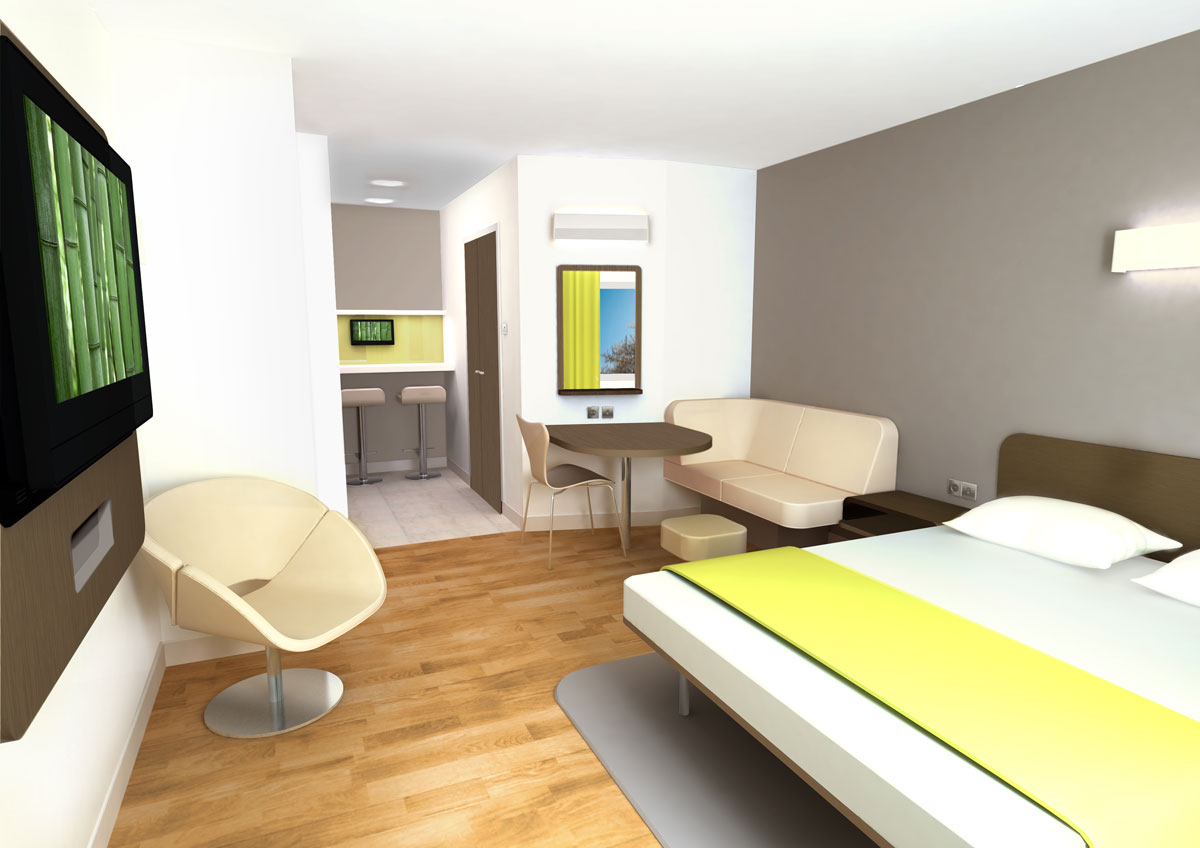 First ever motel 6 property is reborn with modern look for Design hotel 6