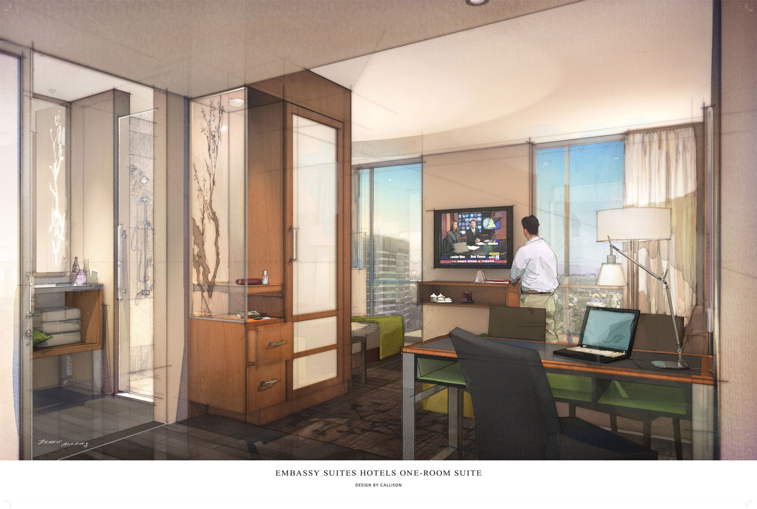Embassy suites hotels introduces spacious one room suite for Hotel concept