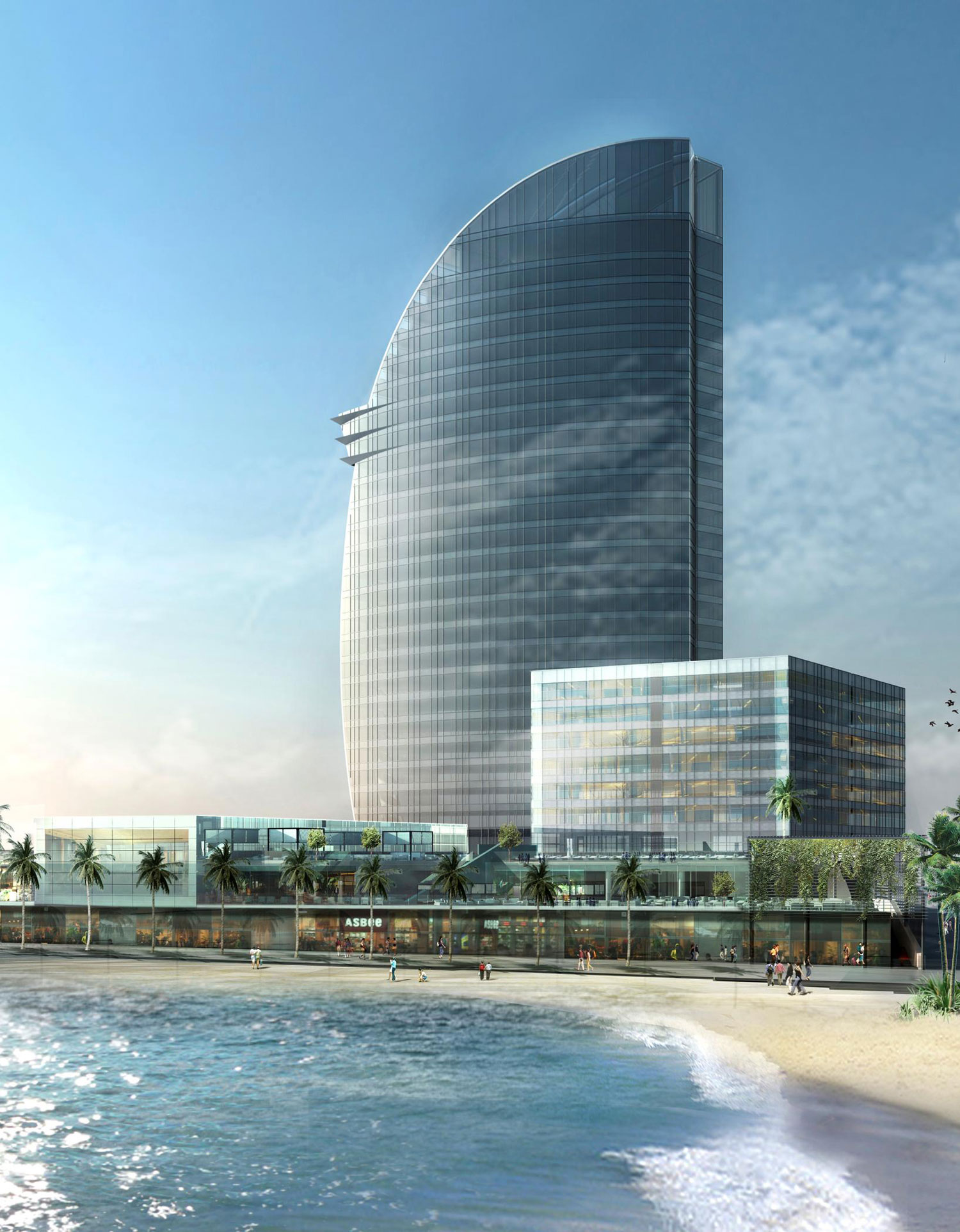 W hotels to unveil the new w barcelona showcasing for Hotel design barcelone