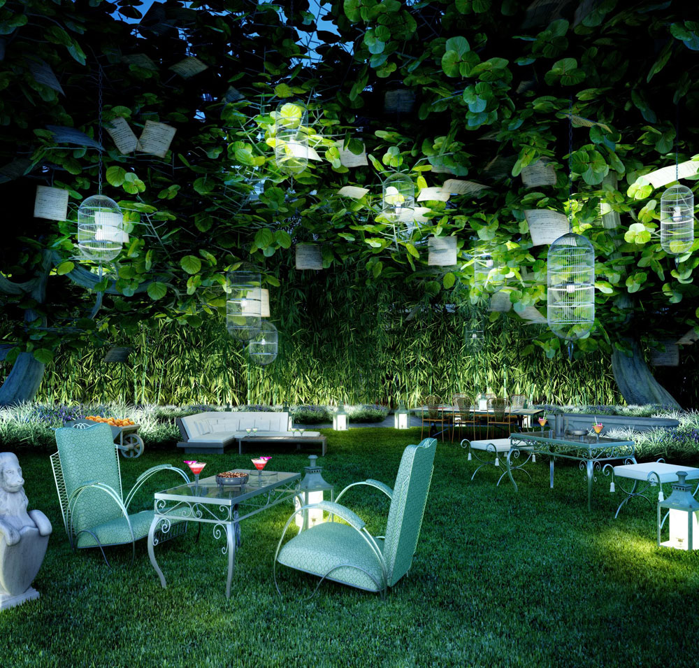 Beautiful W Hotels Unveils W South Beach | Grove, A Whimsical Outdoor Garden Design Inspirations