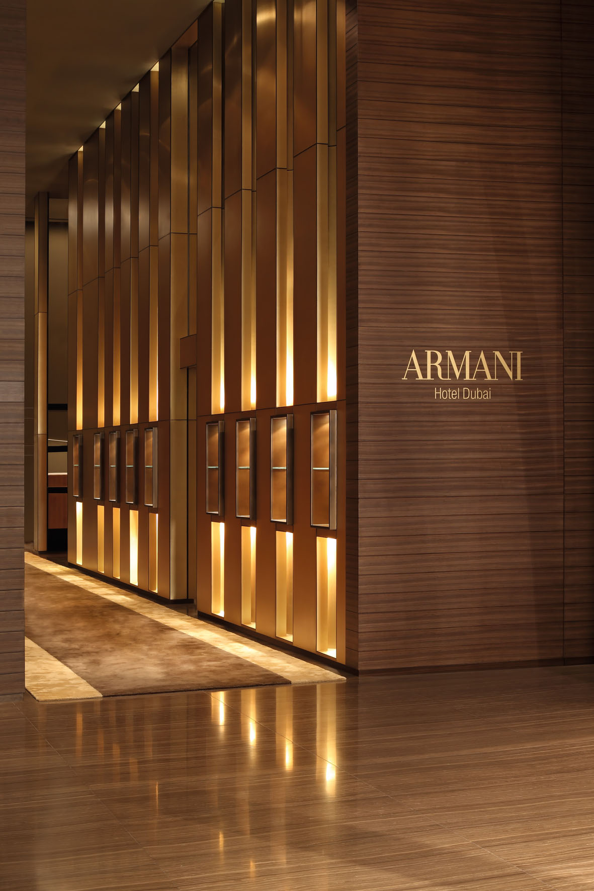 World s first armani hotel unveiled in burj khalifa dubai Armani hotel in burj khalifa