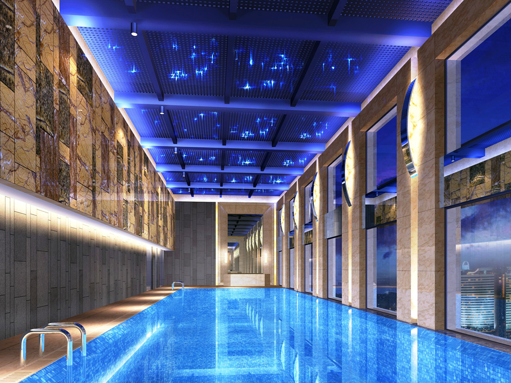 Hilton opens china 39 s first and only luxury airport hotel - Hilton swimming pool ...