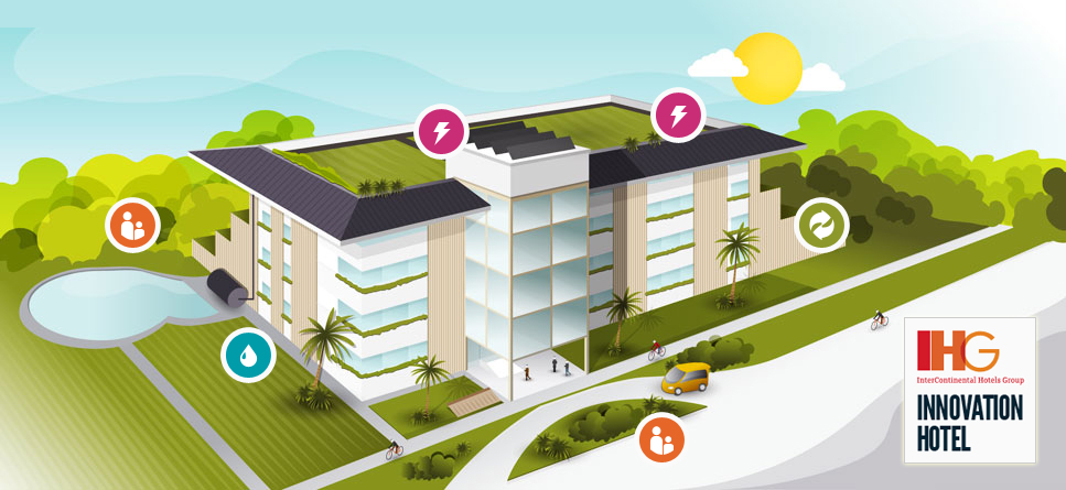 Ihg announces innovation hotel version 2 0 its sustainable for Sustainable hotel design