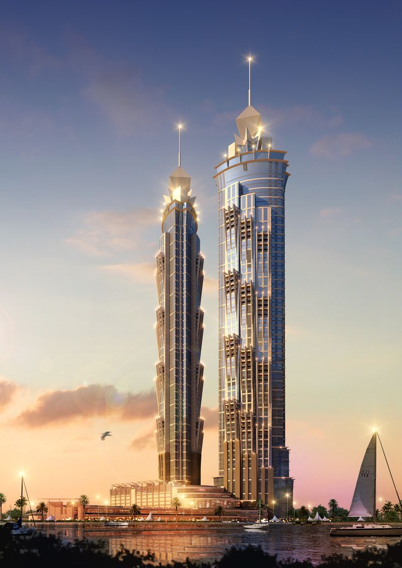 Jw marriott marquis dubai set to be world 39 s tallest hotel for Tallest hotel in the world
