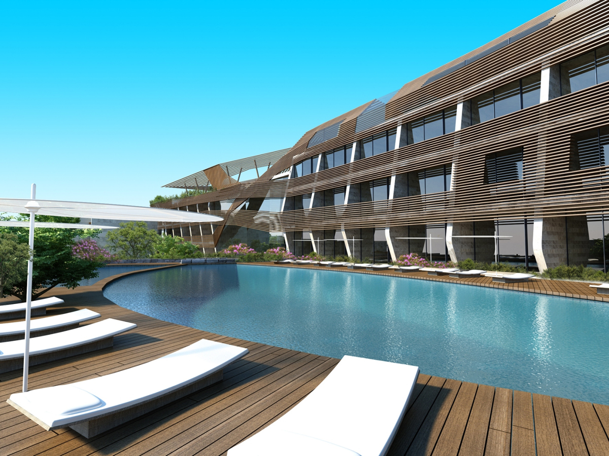 Two new deluxe hotels in bodrum for swiss tel hotels resorts for Deluxe hotel