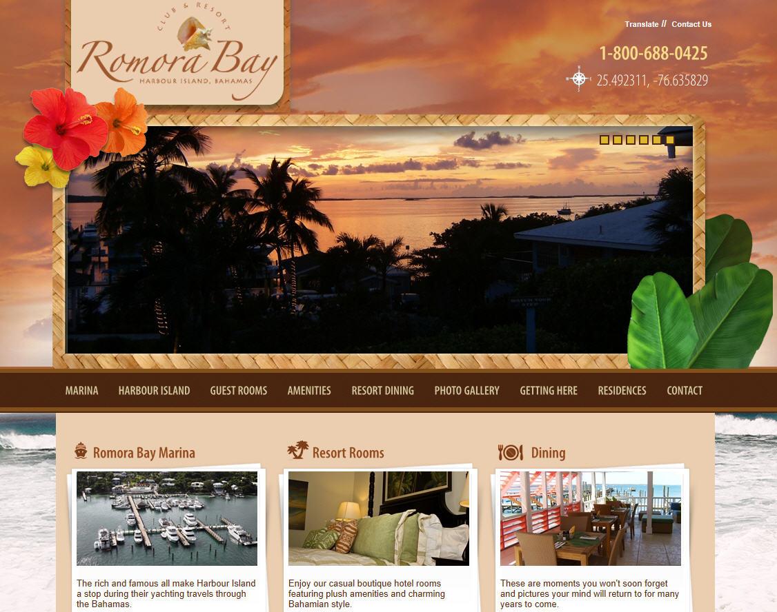 Romora Bay Resort And Marina Website