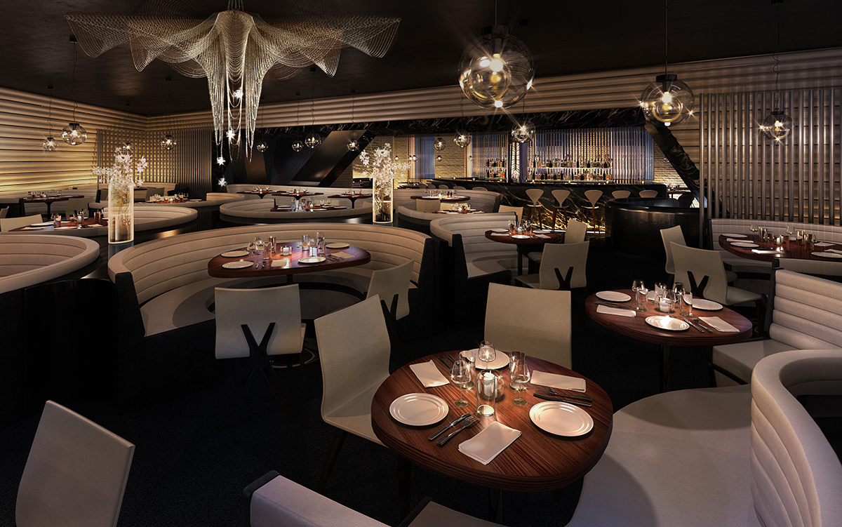 Me london the flagship project of meli hotels for Restaurant dining room designs pictures