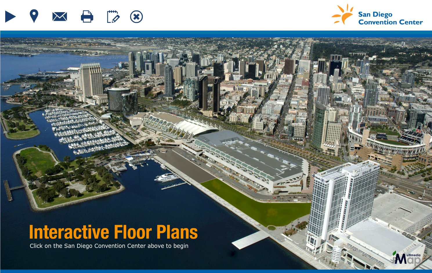 San diego convention center goes live with imap Interactive house plans