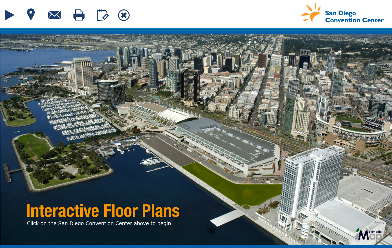 San diego convention center goes live with imap for Interactive home plans