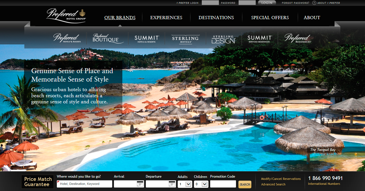 Preferred hotel group unveils new brand websites for Sites hotel