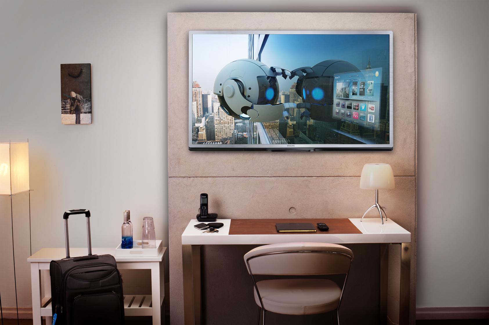 new philips mediasuite hospitality tvs offer dedicated. Black Bedroom Furniture Sets. Home Design Ideas