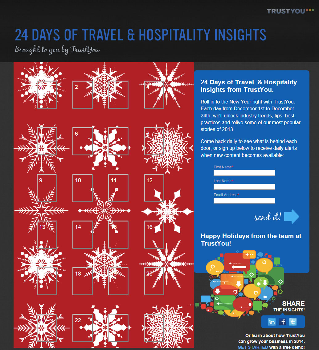 Interactive Online Advent Calendar Offers Daily Tips for Hoteliers ...