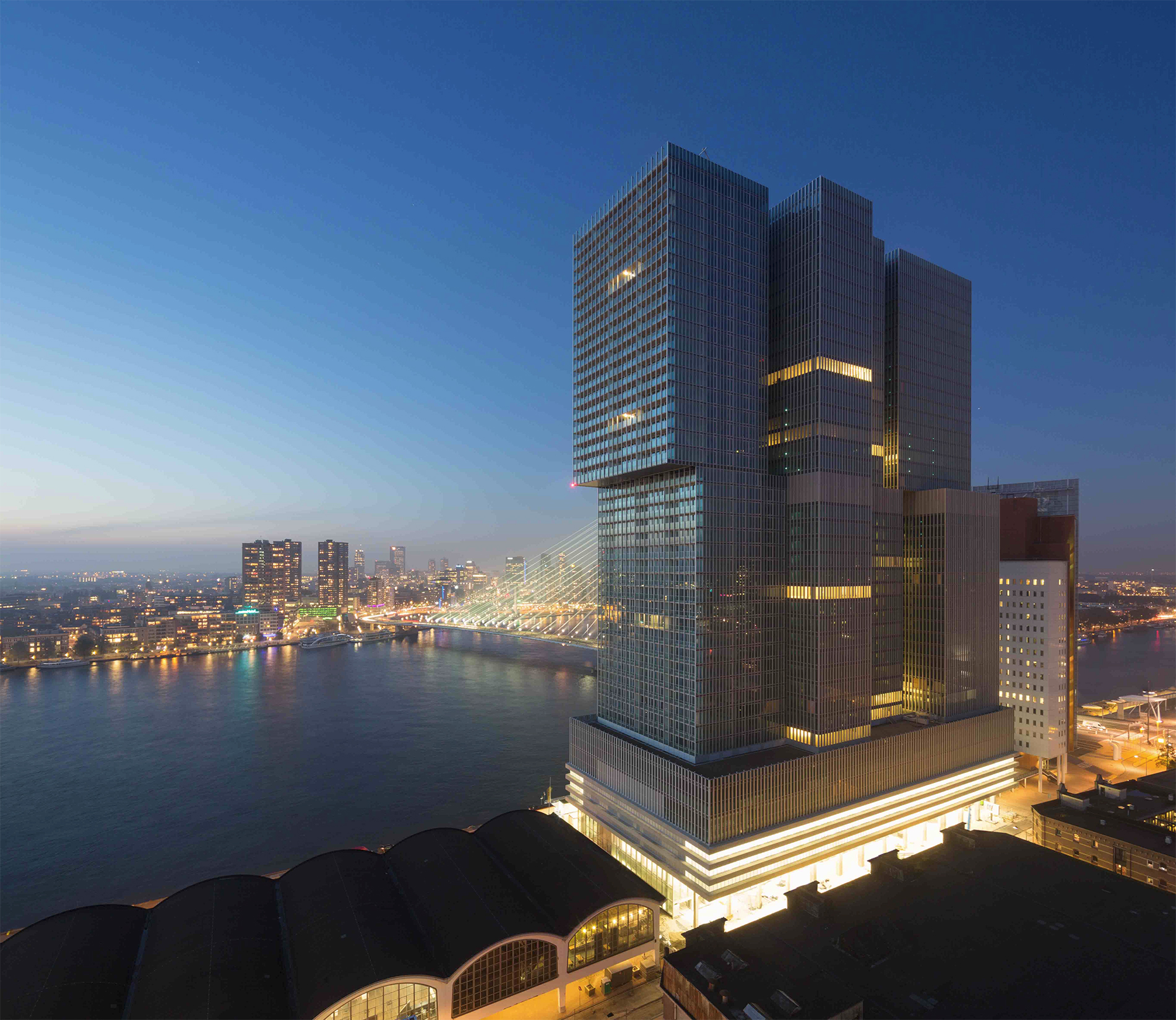 Lifestyle hotel nhow rotterdam opens its doors to for Best architecture hotels in the world