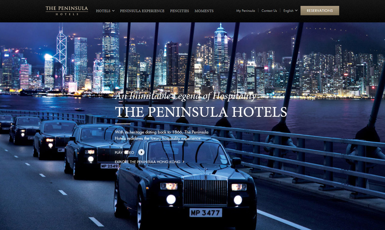 The Peninsula Hotels New Experiential Website
