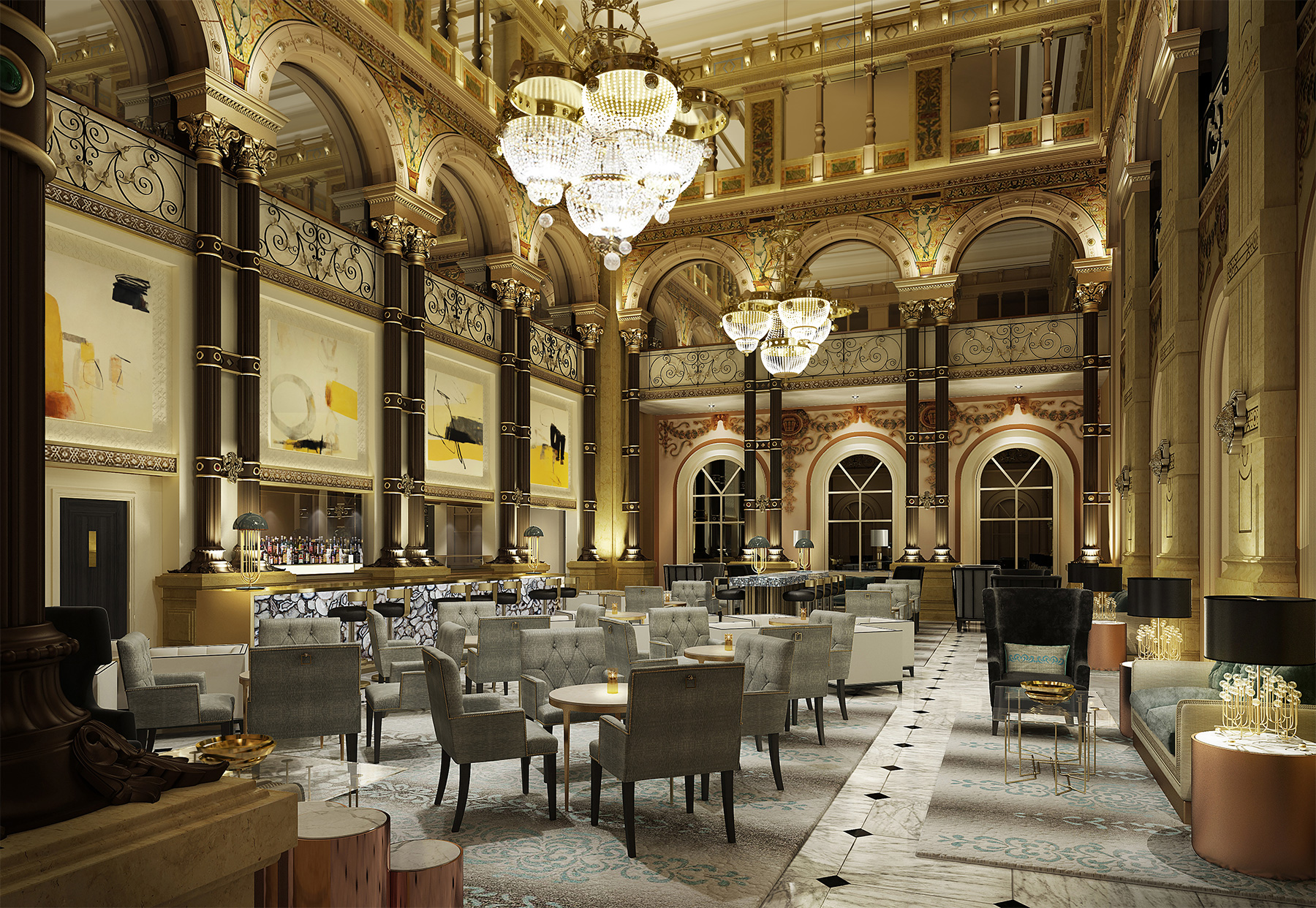 Hilton paris opera undergoes significant restoration ahead for Hotel des bains paris 14