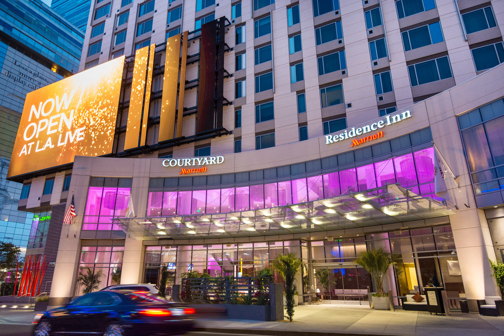 L A  Live Rolls Out Red Carpet For Courtyard And Residence Inn