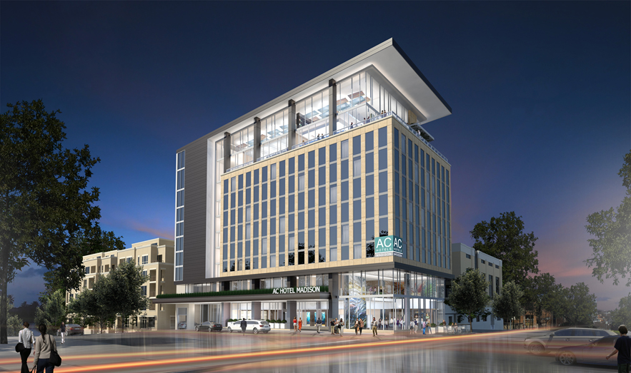 North Central Group Breaks Ground On The Ac Hotel Madison First Marriott Brand Property In Downtown