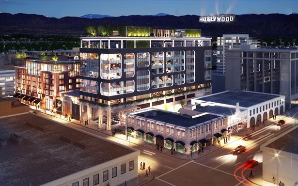 groundbreaking of dream hotel in downtown nashville s. Black Bedroom Furniture Sets. Home Design Ideas