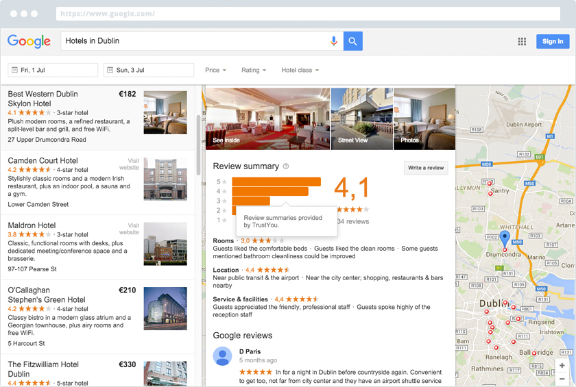 Trustyou Meta Review Above Google Reviews On