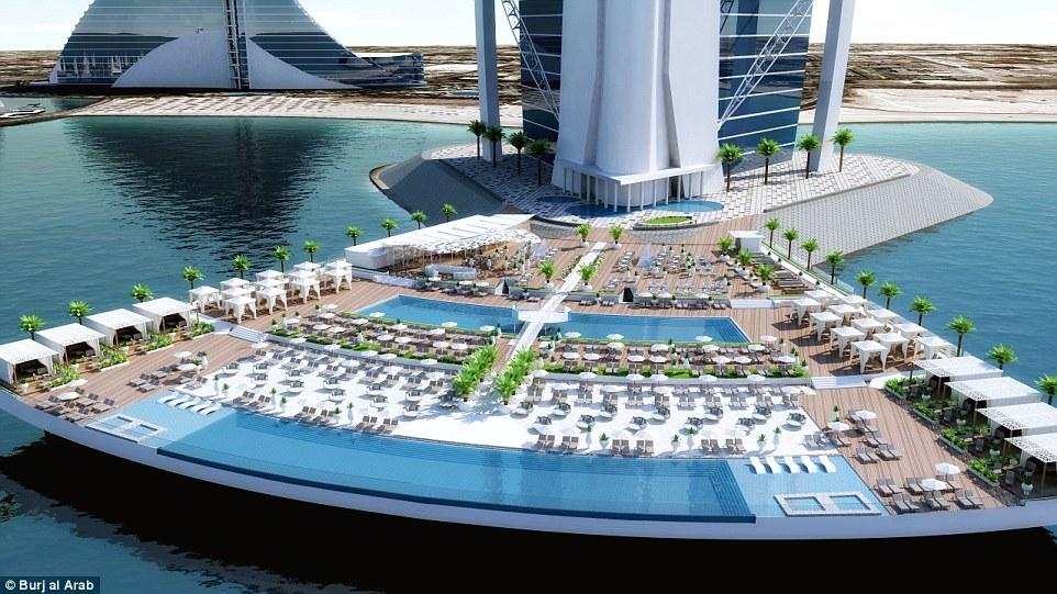 Burj al arab unveils world first outdoor leisure for Burj al arab hotel