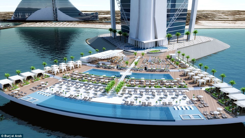 Burj Al Arab Unveils World First Outdoor Leisure Experience Burj Al Arab Terrace