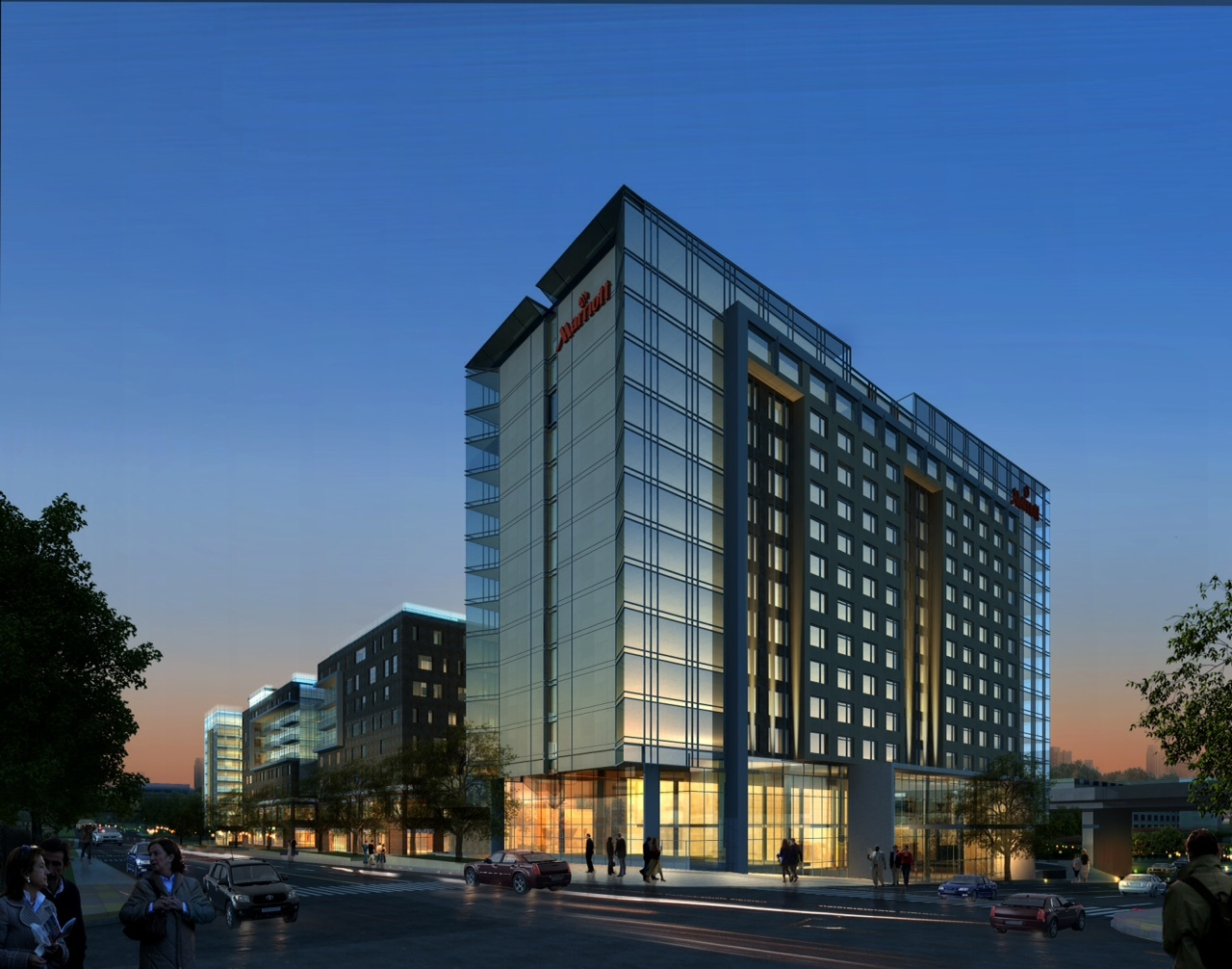 Construction Underway And On Schedule For The New Marriott Capitol District Hotel In Omaha Neb