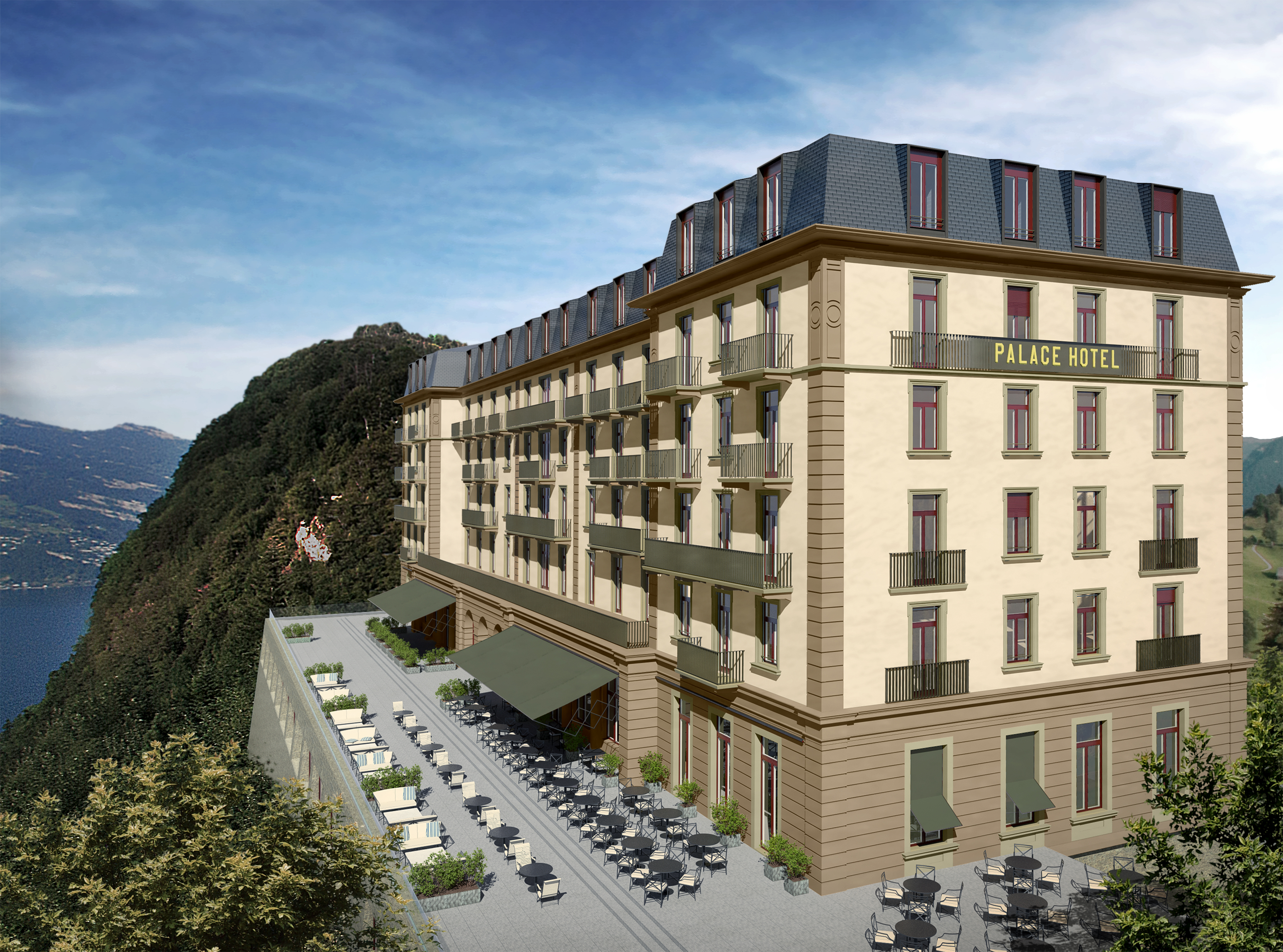 Palace hotel to open in june at b rgenstock resort for Hotel palace