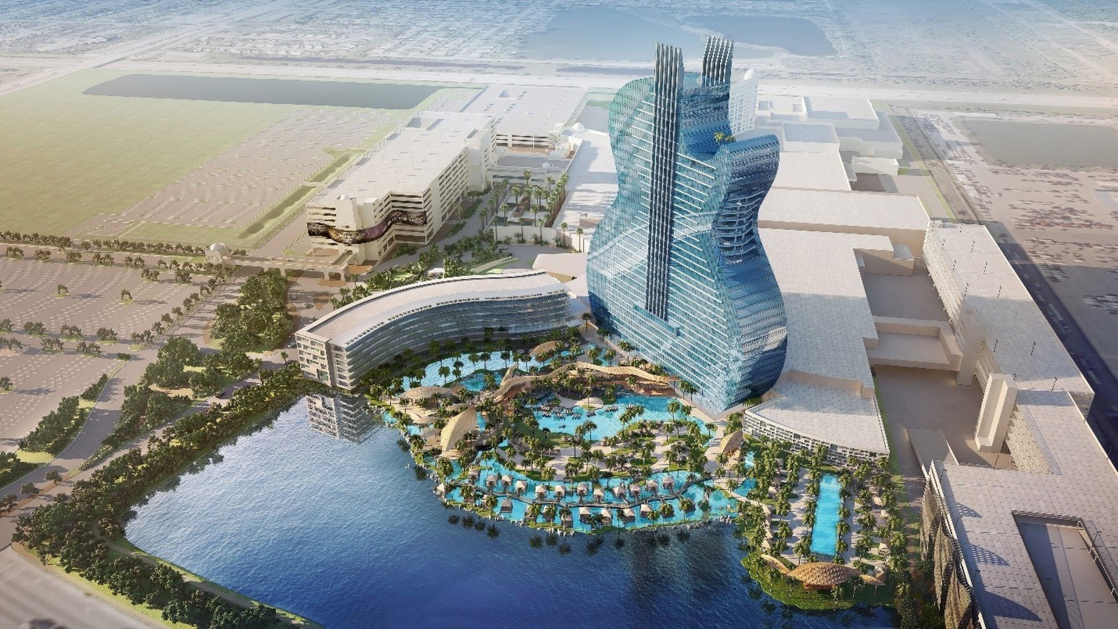Iconic Guitar Hotel Tower Going Up At Seminole Hard Rock Hotel - Hotel design games