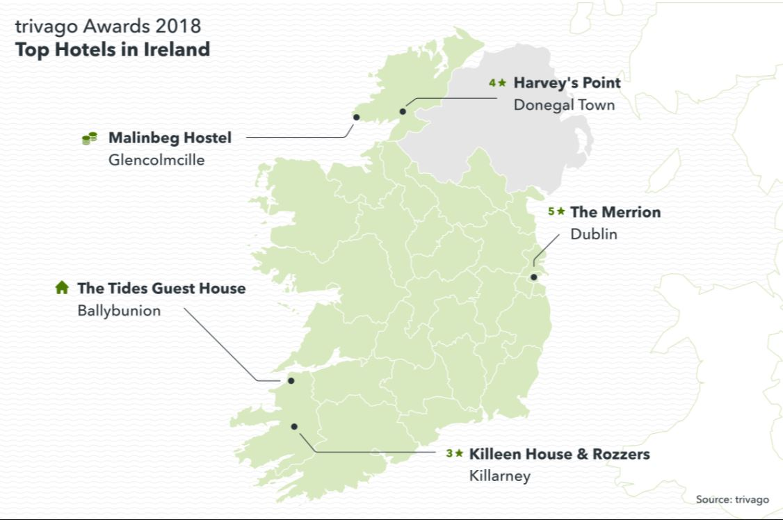 The Trivago Awards 2018 This Year S Top Rated Hotels In Ireland