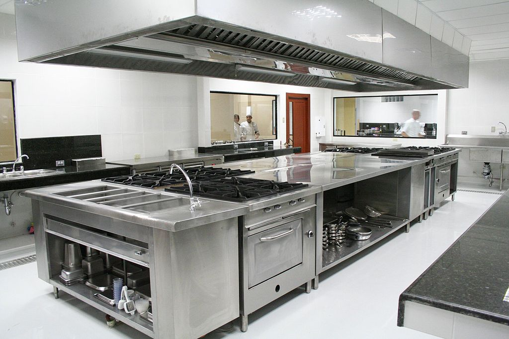 Commercial Kitchen Equipment Setup