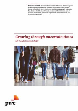 PwC UK hotels forecast 2019