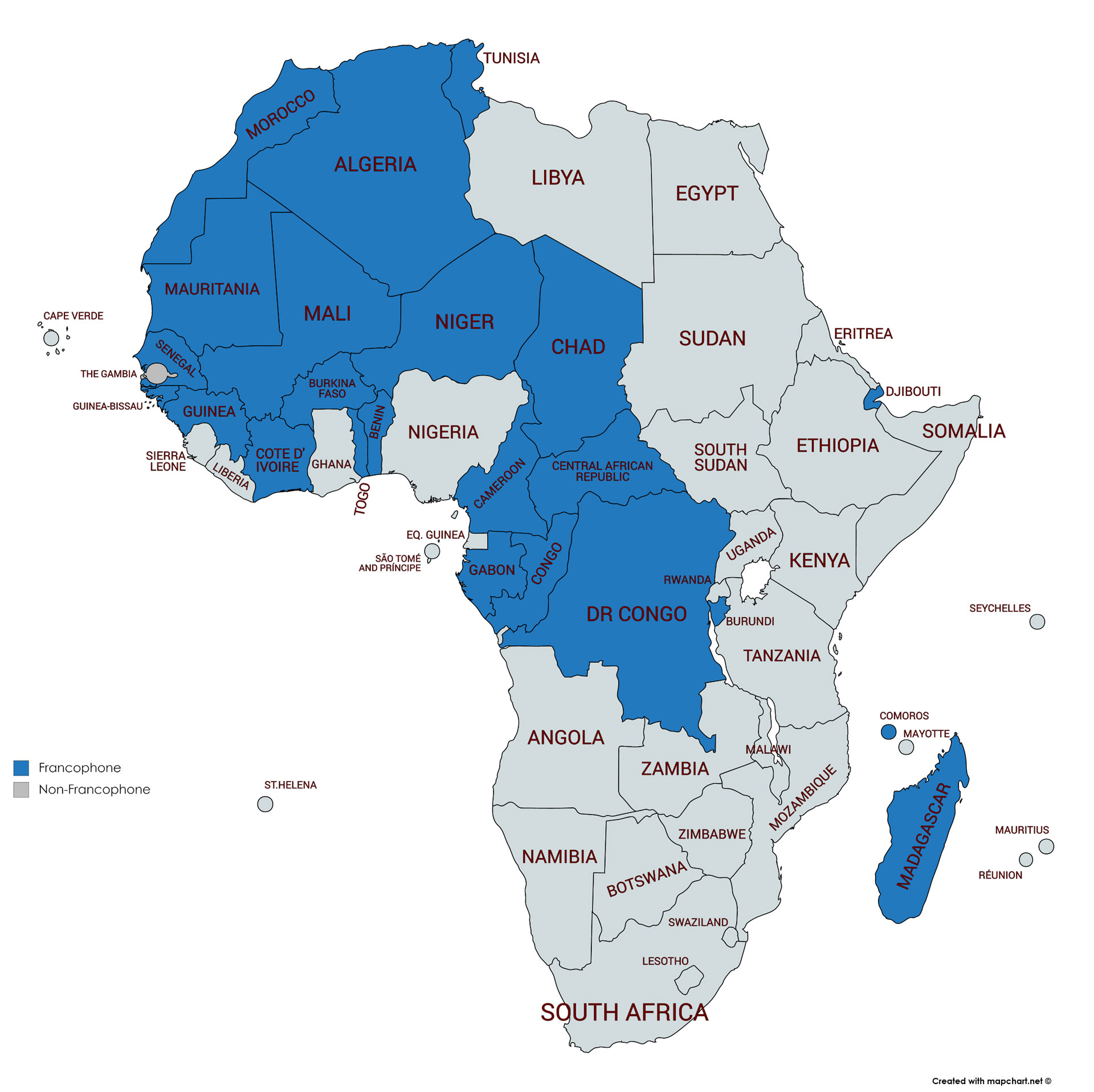 Francophone Africa Map.Global Hotel Chains Plan Expansion In Francophone Africa