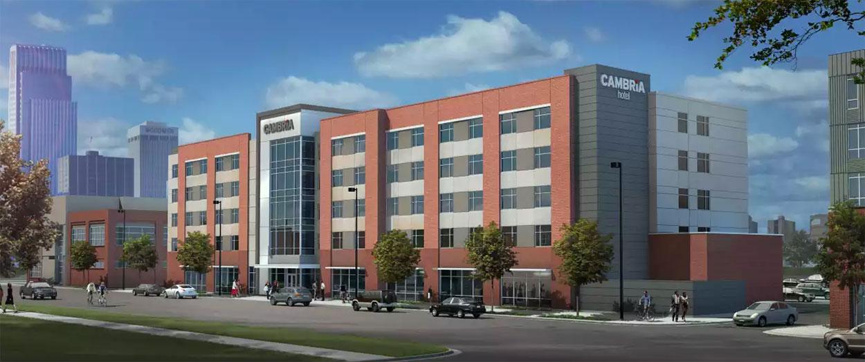 cambria hotels opens in downtown omaha nebraska. Black Bedroom Furniture Sets. Home Design Ideas