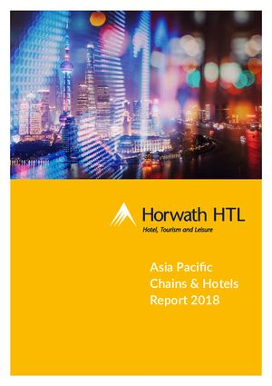 Horwath HTL Industry Report: Asia pacific chains report 2019