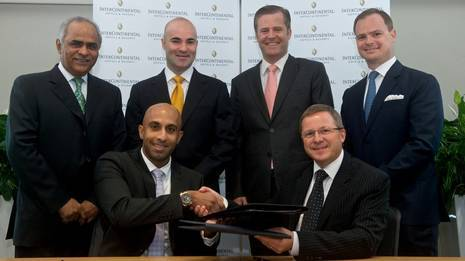 IHG and Select Group Ink Deal to Open InterContinental Dubai Marina in 2013