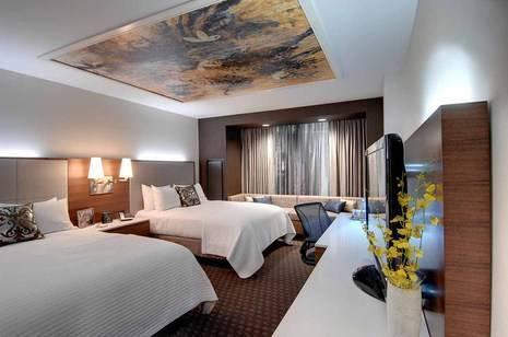 Hilton Columbus Downtown Double Queen Guest Room
