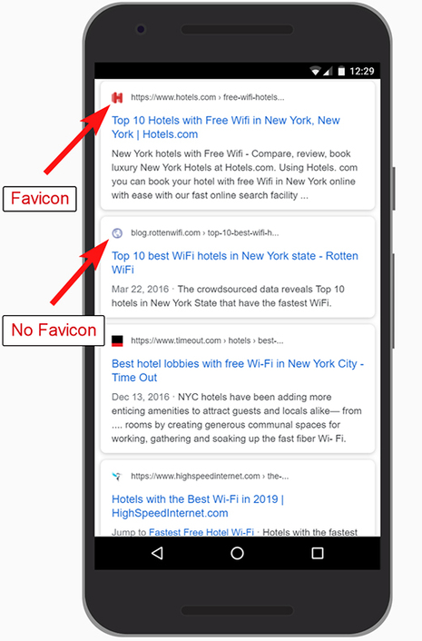 Adding A Favicon To Your Hotel Website For Better Branding Within Google's Search Results