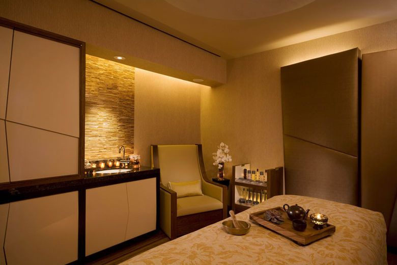 Treatment room at The Peninsula Spa by ESPA