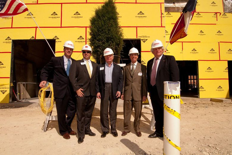 John Q. Hammons Celebrates Topping out of New Courtyard by Marriott Dallas-Frisco