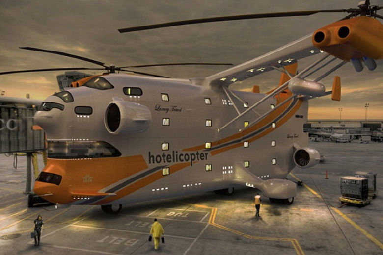 Hotelicopter | Stay At the Hotelicopter... The World's First Flying Hotel