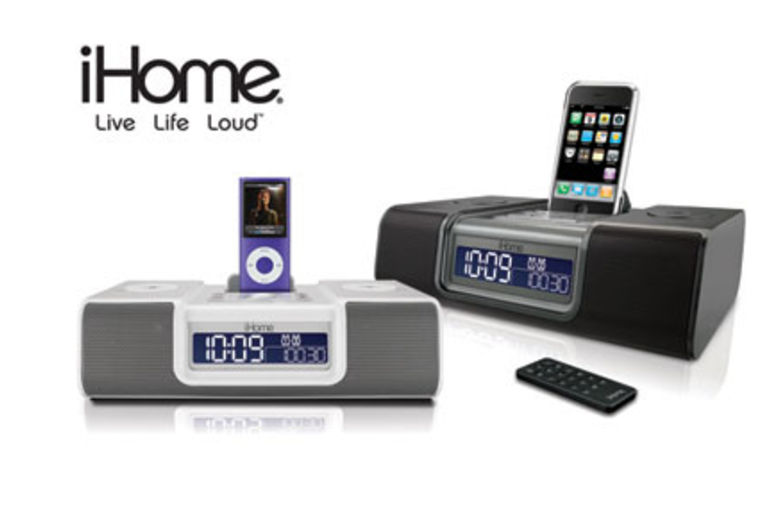 The iHome® iP9GRE clock radio