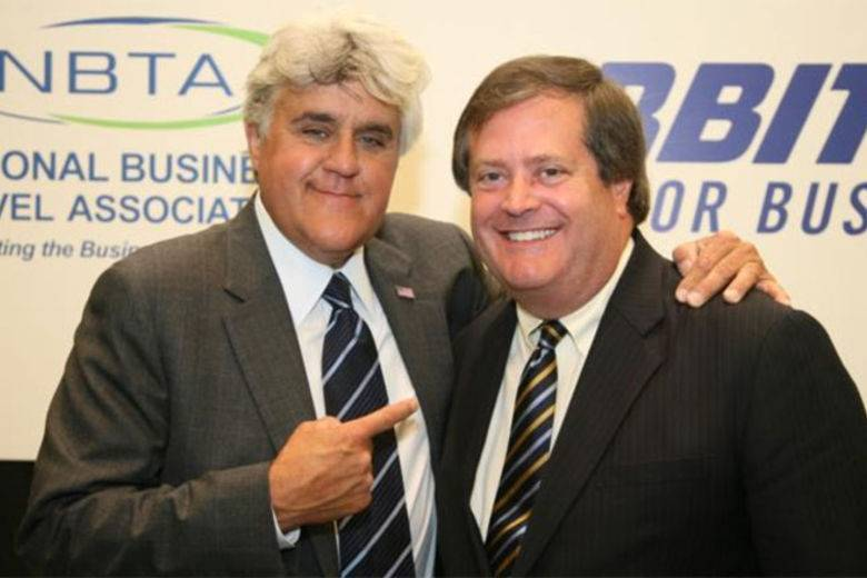 Jay Leno and NBTA President & CEO, Kevin Maguire at NBTA Convention 2009