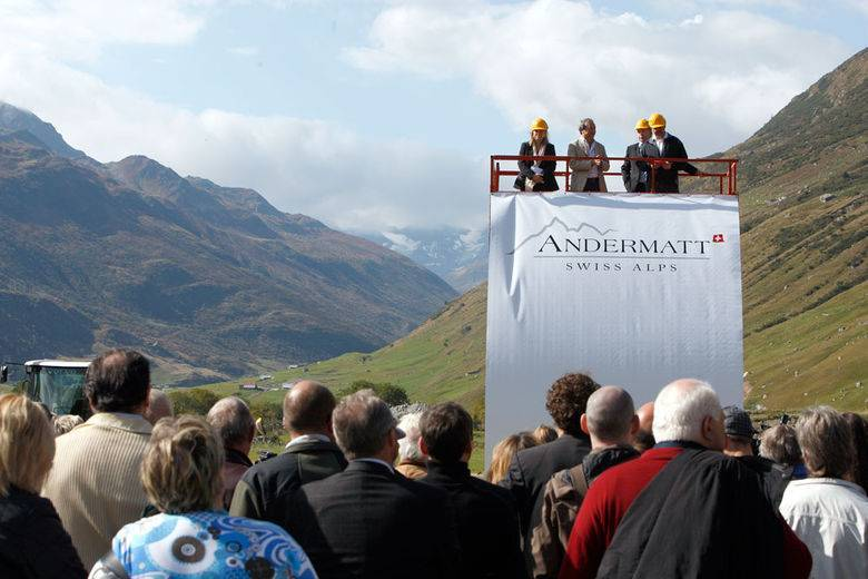 Ground-breaking ceremony for the first integrated holiday resort in the alps
