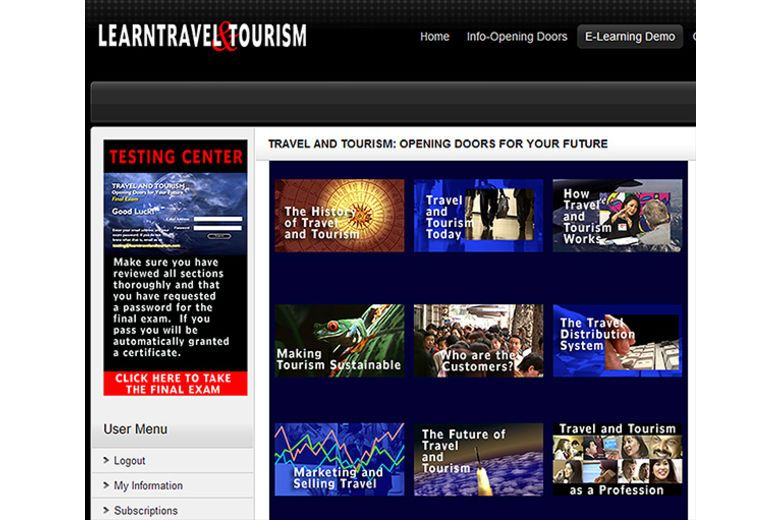 Travel and Tourism: Opening Doors for Your Future: e-Learning