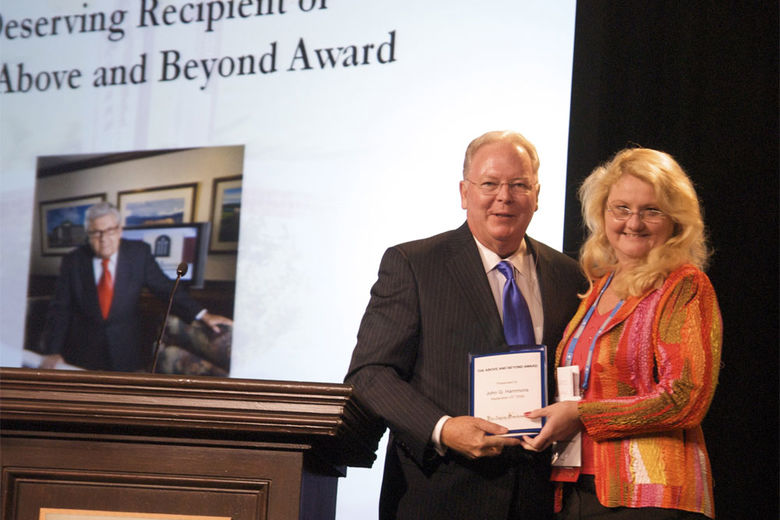 Mr. John Q. Hammons Receives Hospitality Industry's Above & Beyond Award