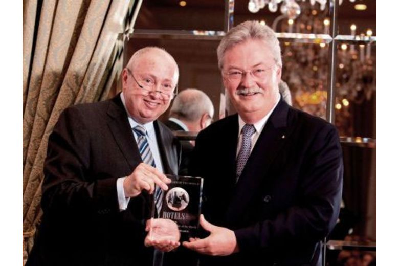 Hans Wiedemann, Managing Director of Badrutt's Palace Hotel Receives the Award of Hotelier of the World