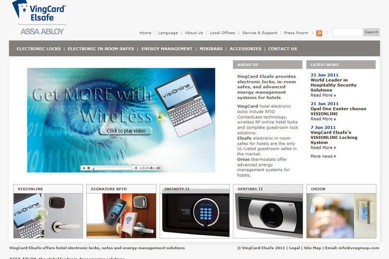 vingcard elsafe launches new global website. Black Bedroom Furniture Sets. Home Design Ideas