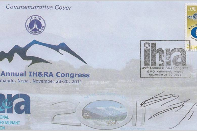 IH&RA First Commemorative Stamp Issued In Kathmandu-Nepal | In Support of the Worldwide Hospitality Industry
