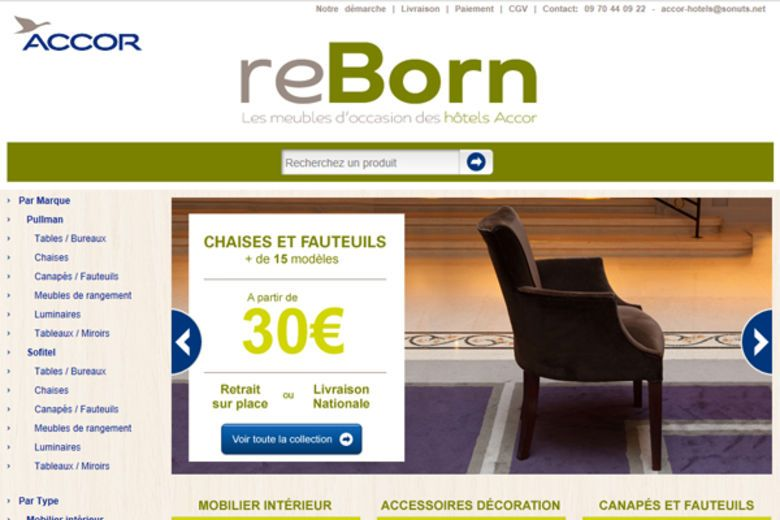 Accor Group Inaugurates Its Online Store On EBay.fr And Puts Its Hotelsu0027  Second Hand Furniture Up For Sale